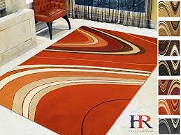 handcraft rugs red rust beige chocolate sage green and multi modern abstract wave pattern area rug approximately 5 by 7