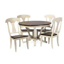 baxton studio napoleon chic country cottage antique oak wood 48 inch round pedestal dining table 48