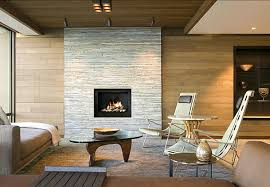Image of: Modern Stone Fireplace Designs