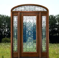 exterior doors with elliptical transom and wrought iron glass door inserts toronto