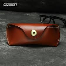 vintage handmade genuine leather eyewear sun glasses sunglasses case cases luxury spectacles box belt waist bag for men women satchel bags for women waist