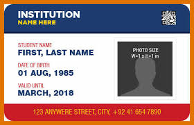 Identity Card Format For Student 4 5 Id Cards Format Leterformat