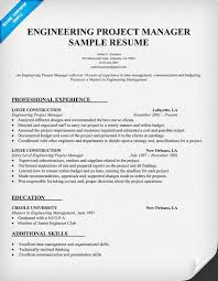 engineering project manager resume sample resumecompanioncom examples of project manager resumes