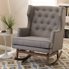 padded rocking chair. Exellent Chair Shop Gracewood Hollow Lu0027Engle Contemporary Grey Fabric Rocking Chair  Free  Shipping Today Overstockcom 20543641 To Padded E