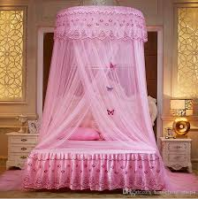 Round Mosquito Nets Luxury Princess Pastoral Lace Bed Canopy Net ...
