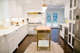 brass kitchen island view full size