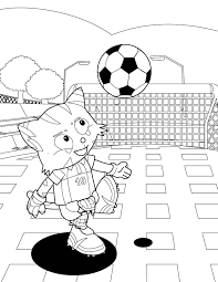 Small Picture Soccer Coloring Page Handipoints