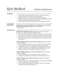 Physical Therapy Assistant Resume Amazing Entry Level Dental