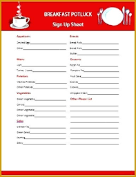 Annual Potluck Christmas Sign Up Templates Holiday Sheet Template ...