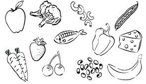 Healthy Foods Coloring Sheets Mebelmag