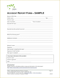 Accident Report Template Free Incident Work Form Employee Format Te