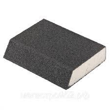 <b>Губка для шлифования</b>, <b>120 х 90 х 25 мм</b>, трапеция, мягкая, P 80 ...