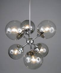 modern glass chandelier lighting vintage chrome and smoked sputnik lightolier stairwell led large bubble crystal ball long light dining room chandeliers