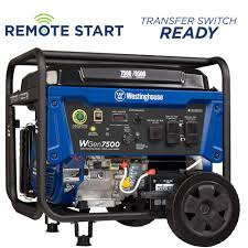 portable generators. Westinghouse 7,500-Watt Gasoline Powered Portable Generator With Electric Start And Wireless Remote Generators B