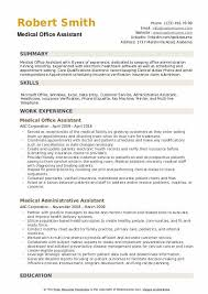 Medical Office Assistant Resume Samples Qwikresume