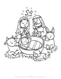 Color Baby Jesus Pictures Christmas Colouring Pages For Babies