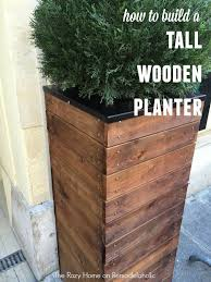 diy wooden planters best of vive la france build a tall wooden planter remodelaholic of diy