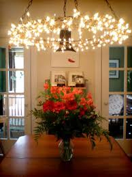 diy lights chandelier