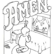 Outstanding Prayer Coloring Pages Page Friend For Preschoolers