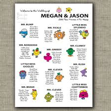 Cool And Funny Seating Chart For Weddings Birthdays And