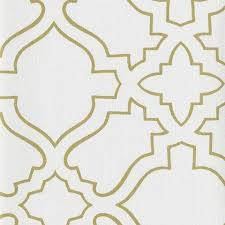 Arabesque Wallpaper in White and Gold by Ronald Redding for York  Wallcoverings ...
