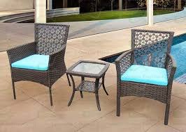 garden patio furniture. Garden Patio Furniture 3-piece Rattan Outdoor Set Wz Two Wicker Chairs W