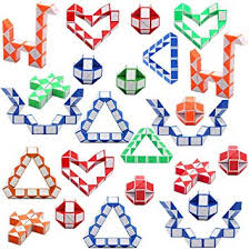 Viccess <b>24 Pieces Magic</b> Snake Twist Puzzle Snake Cube Toy 24 ...