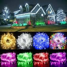 Mainstays Warm White Led Lights Fairy String Lights 10 1000 Led Clear Cable For Christmas Tree Indoor Outdoor