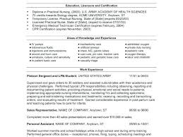 Free Lpn Resume Templates Inspiration Example Lpn Resume Sample Resume Resumes For Practical Nursing