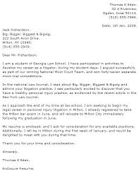 Lawyer Cover Letter Examples Cover Letter Sample For Law Firm Law