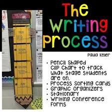 Writing Process Clip Chart The Writing Process Clip Chart Organizers Stationary Forms And More