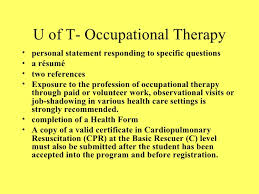 images about Occupational Therapy on Pinterest Activities Masters Personal  Statement Help