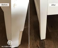 recreate furniture. furniture leg animal damage broken cracked chunk of wood missing repair recreate fill paint finish chair