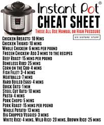 Slow Cooker To Pressure Cooker Conversion Chart How To Convert Recipes Into Instant Pot Recipes Six
