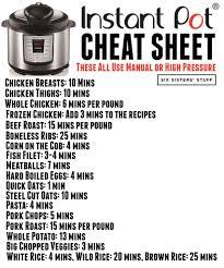 Instant Pot Cooking Times Chart How To Convert Recipes Into Instant Pot Recipes Six