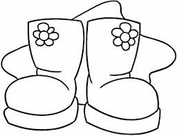 Small Picture Snow Boots coloring page Free Printable Coloring Pages