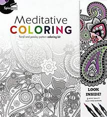 Amazoncom Spice Box Meditative Coloring 50 Anti Stress Coloring
