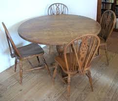 vintage round dining table vintage oak round dining table four chairs antique dining table decor