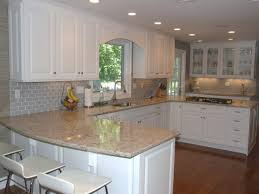 Impressive Backsplash White Cabinets Kitchen With Gray Breathtaking