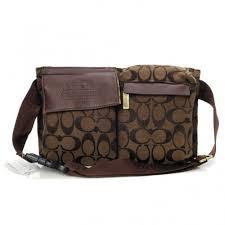 Coach New In Signature Small Coffee Crossbody Bags BAQ