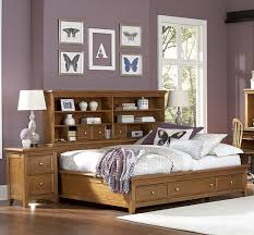 Storage furniture for small bedroom Storage Ideas Butterflywallpictureandbedsidetableincontemporary House Beautiful Bedroom Attractive Storage Ideas For Small Bedrooms Decor