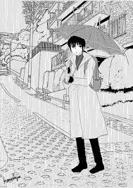 雨の日のかねきょ漫画イラストnote