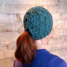 Ponytail Hat Knitting Pattern Interesting Knit Hat With Ponytail Hole