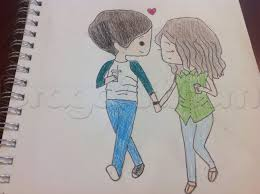 anime chibi couple drawing. Simple Drawing How To Draw A Chibi Couple To Anime Chibi Couple Drawing