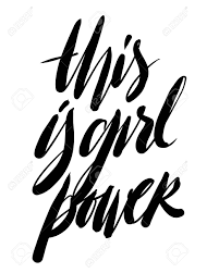 This Is Girl Power Hand Lettering For Your Design T Shirt