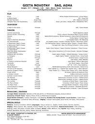 Acting Resume Format Lcysne Com