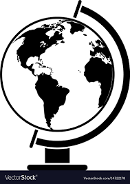 Globe Map Black And White Seo First Page Com