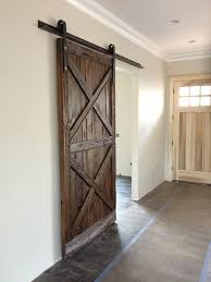 Double X Pattern Mushroom Wood Sliding Barn Door | Barn doors ...