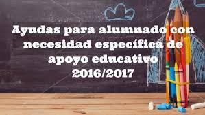 Resultado de imagen de ayudas alumnos necesidades educativas especiales 2017
