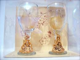 Gold Wine Glassesmarco mario souvenir wedding souvenirs souvenir  pernikahan surabaya indonesia